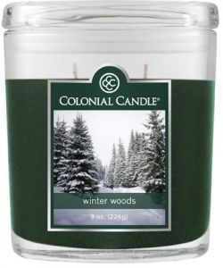 Colonial Candle 8 Ounce Scented Oval Jar Winter Woods