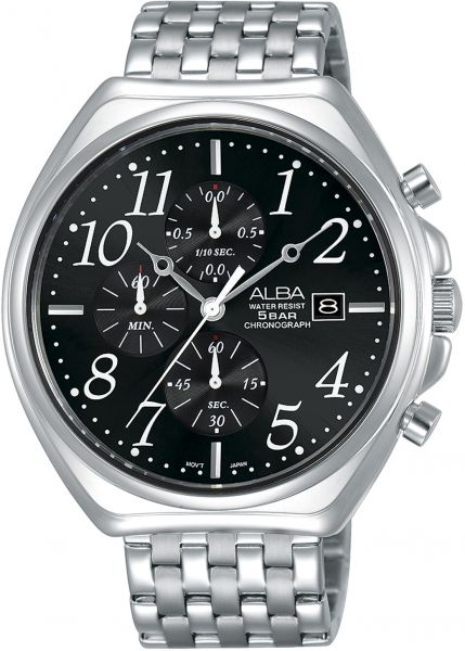 Alba Chronograph Prestige stainless Steel Dress Watch For Men AM3475X -  Silver be4b7fbe35