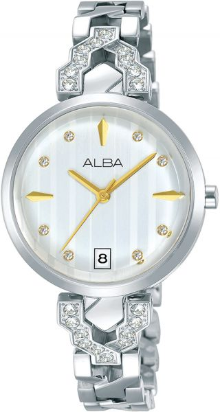 02643f78e Alba stainless Steel Dress Watch For Women AG8H79X - Silver