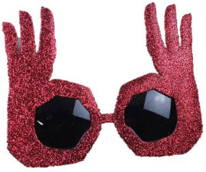 3810afd0f094 Novelty Funny Party OK Gesture Finger Sunglasses Cosplay Props Unisex  Glasses