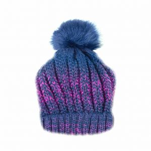 9c2a028f571 Navy Blue Beanie   Bobble Hat For Women