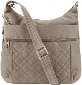 bd8d3dec59fb Travelon Women s Anti-Theft Signature Quilted Expansion Crossbody Cross  Body Bag