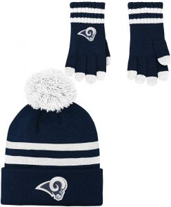 c11a3e7576f NFL by Outerstuff NFL Boys (4-7) 2 Piece Knit Hat and Gloves Set-Dark Navy