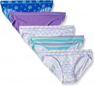 a2d5c67def Hanes Ultimate Girls' 5-Pack Cotton Stretch Bikini Panties, Assorted, 14