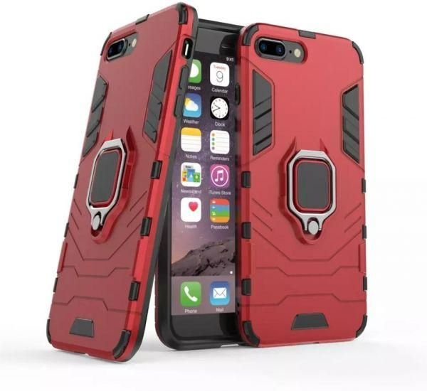 new arrival 21d14 10c33 CompuMisr Iron Man Cover case For Iphone 6 Plus With Metal Ring kickstand -  Red