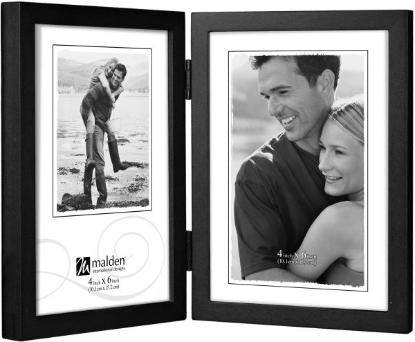 Malden International Designs Black Concept Wood Picture Frame