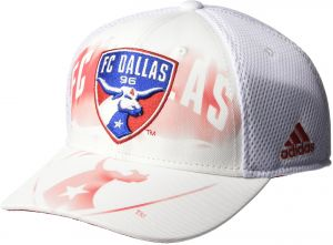 adidas MLS FC Dallas Adult Men MLS SP17 Fan Wear White Out Structured Adjustable  Cap c6d452b9b