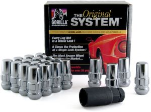 Gorilla Automotive 20083SD Small Diameter Acorn Open End Chrome 5 Lug Kit 1//2-Inch Thread Size -Pack of 20