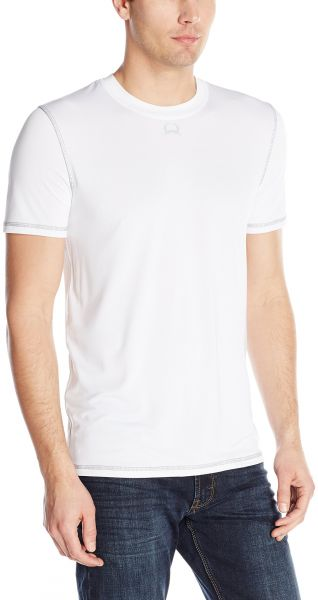 72ff6a45662 Cinch Men s Arenaflex Short Sleeve Athletic Under Shirt with Contrast Cover  Stitch and Heat Transfer Logo