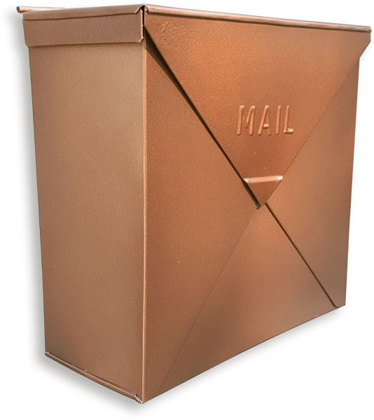 Nach Mb 6300 Chicago Copper Mailbox Wall Mounted Post Box 10 X 4 Inch