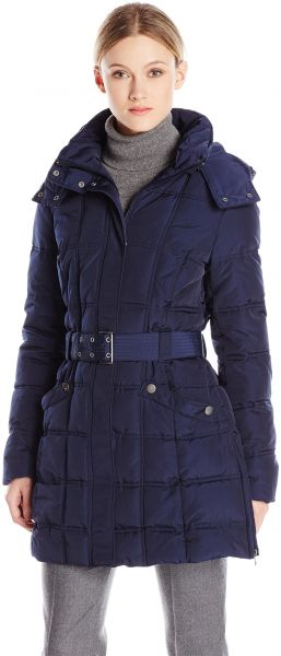 9a8e27d723f Tommy Hilfiger Women s Long Classic Down Filled Belted Coat
