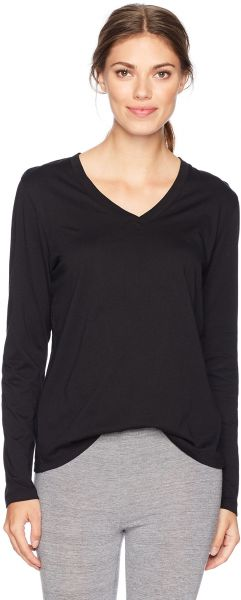 HUE Women s Long Sleeve V-Neck Sleep Tee d3e7584f6