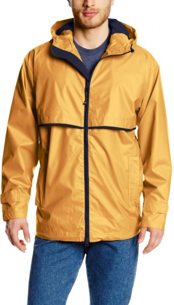 e5270e6a76be3 Charles River Apparel Men s New Englander Waterproof Rain Jacket,  Yellow Navy, Large