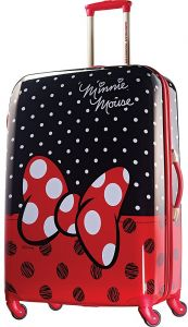 American Tourister Disney Minnie Mouse Red Bow Hardside Spinner 28 4e9eeaba56936