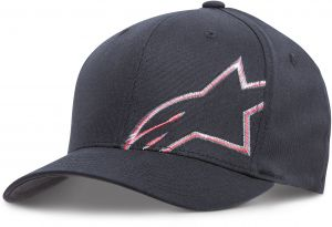5226214b751 Alpinestars Men s Curved Bill Structured Crown Flex Back Flat Embroidered  Logo Flexfit Hat