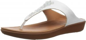 e254097b4b703 FitFlop Women s Banda Leather Toe-Thong Crystal Slide Sandal