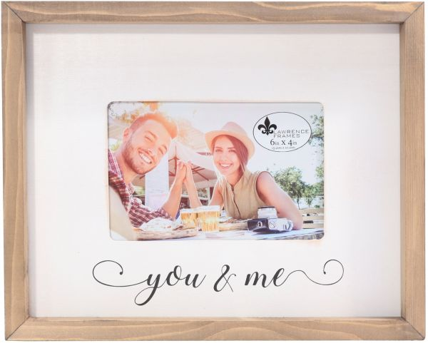 Lawrence Frames Farmhouse Wood You Me Photo Frame 4 X 6 Brown