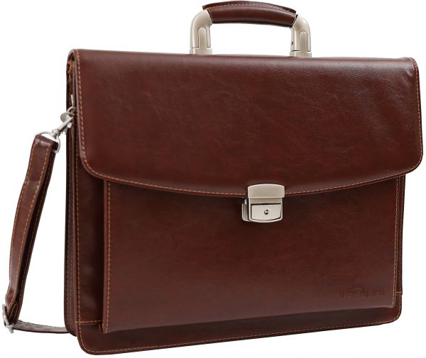 DEERLUX QI003305 Leather Briefcase 45086f8453d10