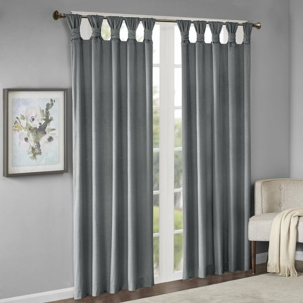 JLA Home INC Blue Curtains for Living Room, Transitional Rod Pocket Blue  Curtains for Bedroom, Sonnet Print Fabric Window Curtains for Kitchen,  50x95, ...