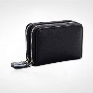 Card bag double zip unisex coin purse 4134235b98ce4