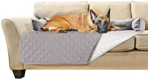 Pleasing Furhaven Pet Furniture Cover Sofa Buddy Reversible Furniture Cover Protector Pet Bed For Dogs Cats Gray Mist X Large Machost Co Dining Chair Design Ideas Machostcouk