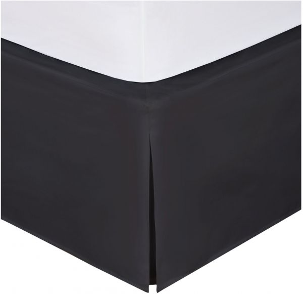 Magic Skirt Tailored Bedskirt Never Lift Your Mattress Clic 14 Drop Length Pleated Styling Full Black Souq Uae