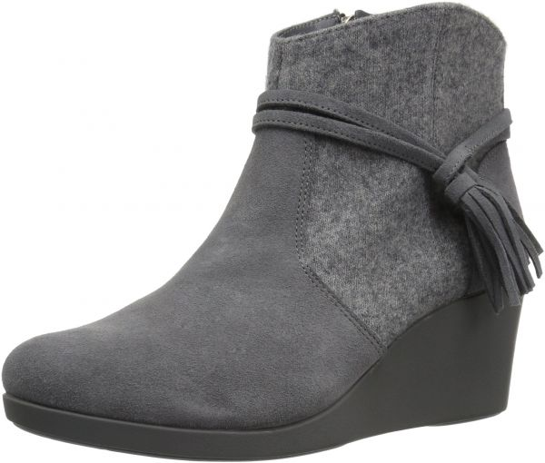 d719cdab25cf Crocs Women s Leigh Suede Mix Wedge Ankle Bootie