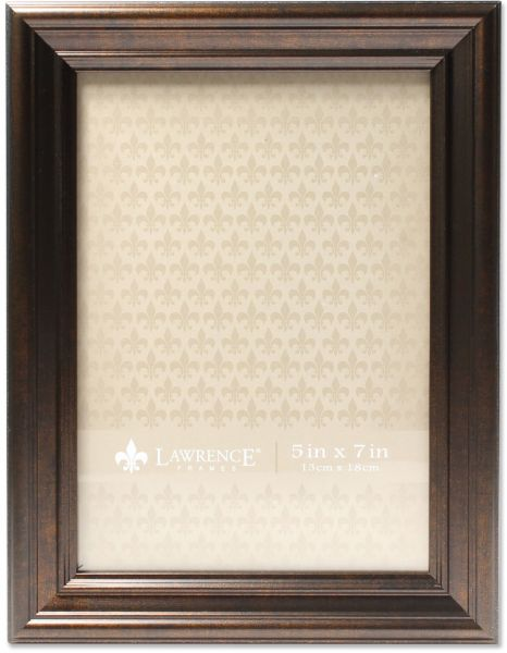 Lawrence Frames 535557 5x7 Classic Detailed Oil Rubbed Bronze