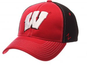 3fe43126b12 Zephyr NCAA Wisconsin Badgers Men s Rally Z-Fit Cap