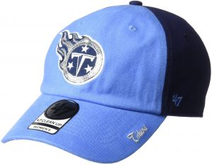 NFL Tennessee Titans Women s Sparkle Two Tone Clean Up Adjustable Hat 9073645fa8cc