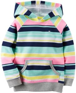 245916cf041 Carter s Baby Girls  Hooded Tunic - Striped - 6 Months