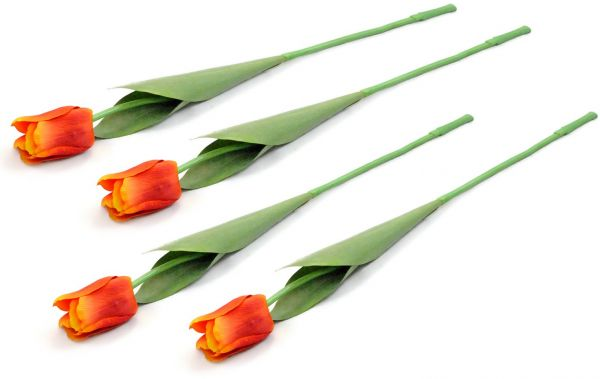 Dii 4 Piece Artificial Tulip Natural Silk Flowers For Bridal