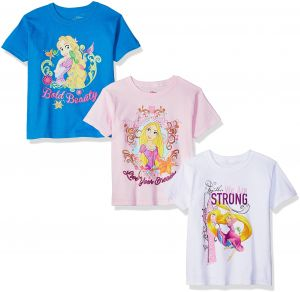 78d0bb557 Disney Toddler Girls  Rapunzel Tangled 3-Pack Short Sleeve Graphic T-Shirt