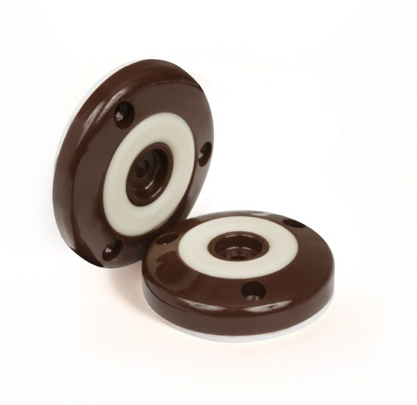 Slipstick Cb505 Furniture Feet Floor Protectors With Non Slip Rubber Grip Set Of 4 Grippers 2 Inch Round Chocolate Brown