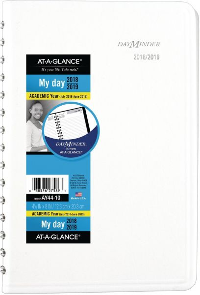 at a glance 2018 2019 academic year daily planner appointment book