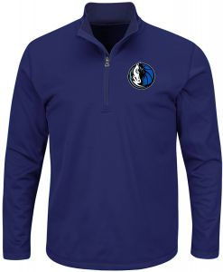 NBA Dallas Mavericks Men s B T Team 1 4 Zip Birdseye Poly Shirt a5e5e2f1c