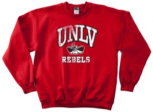 the latest 881e6 43cd4 NCAA UNLV Rebels 50 50 Blended 8-Ounce Vintage Mascot Crewneck Sweatshirt,  Large, Red