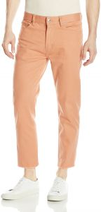 Obey Men's New Threat Flooded Twill Cut Pant, Rose, 32