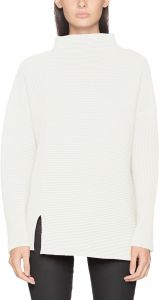 6c25790ae0b French Connection Women's Millie Mozart Solid Knits Cotton Sweaters, Winter  White Sunday, M
