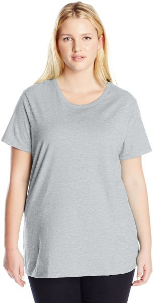 dae786eff4952 Just My Size Women s Plus-Size Short Sleeve Crew Neck Tee