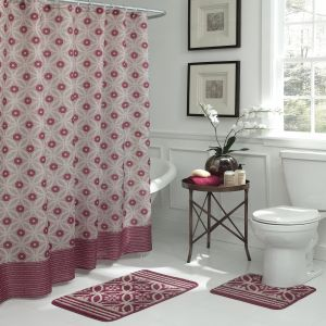 Bath Fusion Hartford Geometric 15 Piece Set Barn Red Linen Souq Uae