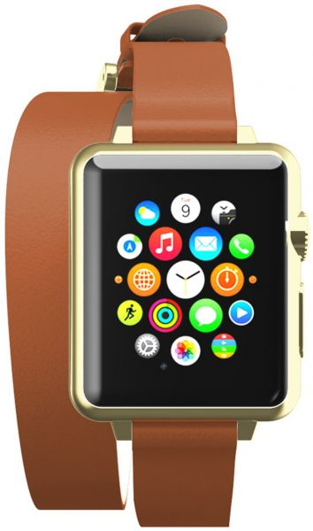 promo code ae116 09372 Incipio Reese Double Wrap Watch Band for Apple Watch 42mm - Tan/Gold