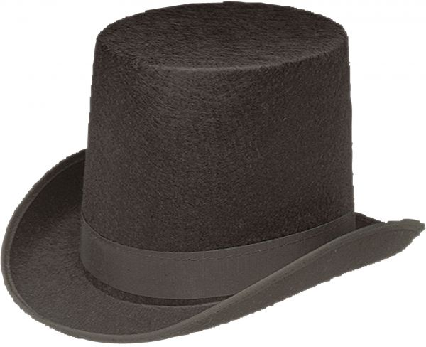 Jacobson Hat Company Men s Permalux Coachman Top Hat 7 Inch Tall ... 3dc00eb156ee