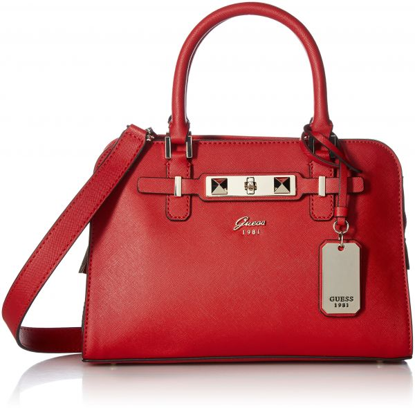 Guess Cherie Small Friend Satchel Red