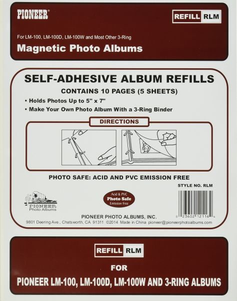 Refill Pages For Lm 100 Lm 100d And Lm 100w Photo Albums 10 Pages