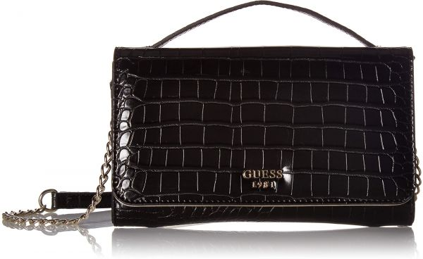 GUESS Kamryn G-Shine Wallet on a String, Black