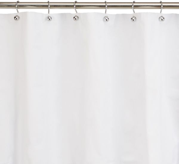 Ex Cell Eco Soft Shower Curtain Liner White