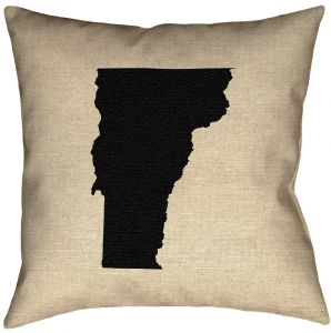 ArtVerse Katelyn Smith 26 x 26 Faux Suede Double Sided Print with Concealed Zipper /& Insert Pennsylvania Outline Pillow