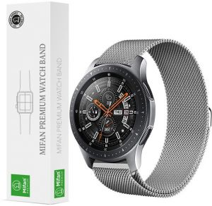 6f62ec65dc2 Samsung Gear S3 2018 Galaxy Watch 46mm Mifan Milanese Loop Band Strap  Replacement Premium Mesh Stainless Steel Silver Anti Sweat Cooling with  Magnetic Clasp ...