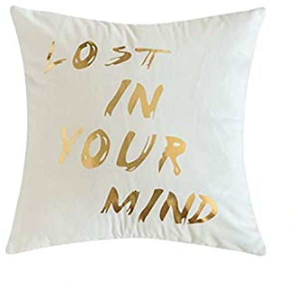 Gold Stamping Soft Soild Decorative Square Outdoor Throw Pillow